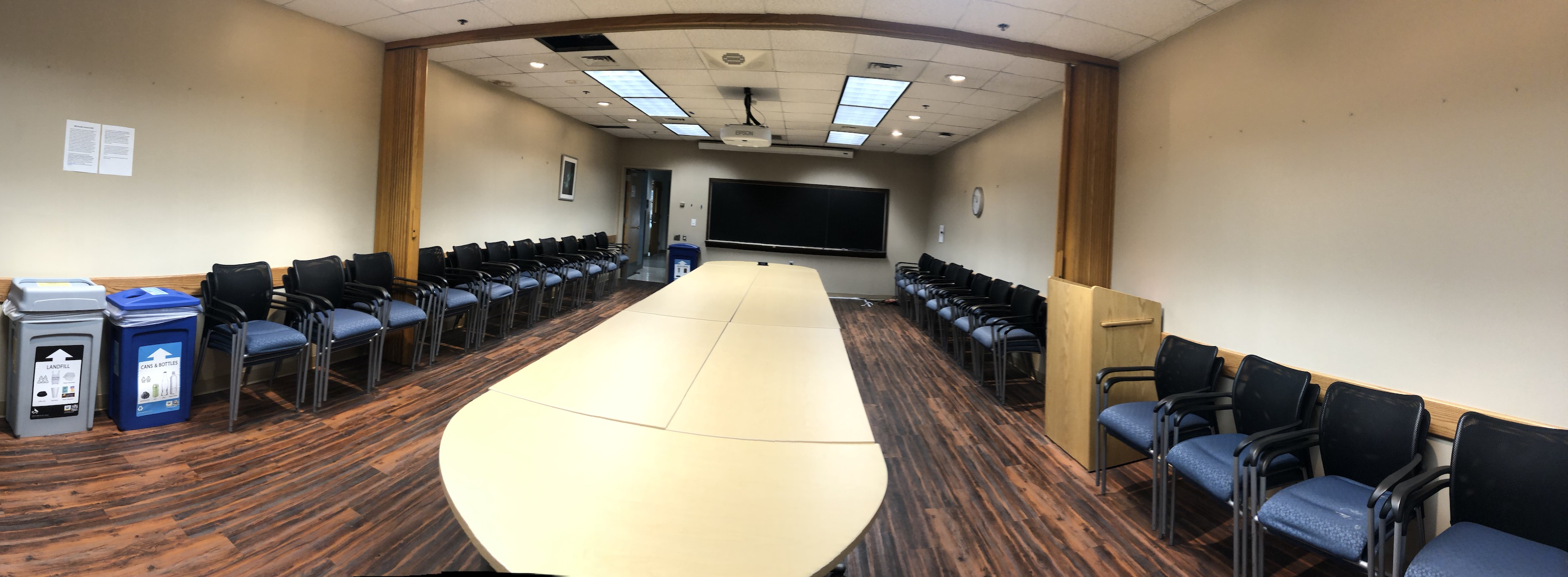Koshland Hall 338 Conference Room Layout Photo
