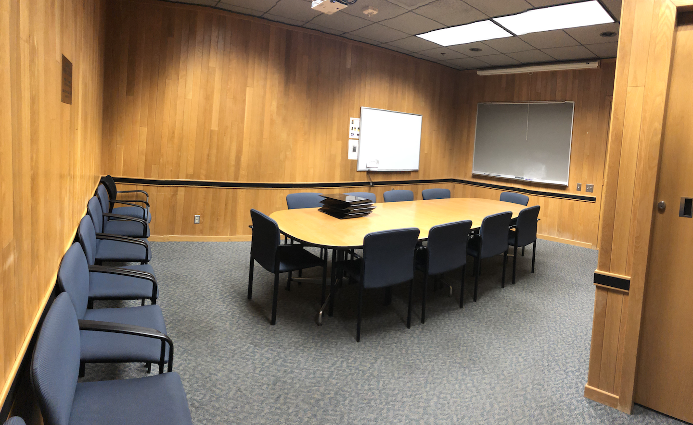 Koshland Hall 438 Conference Room Layout Photo