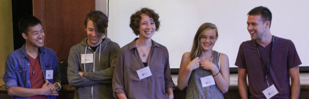 First Year Graduate Students, Thai Dao, Patrick West, Marietta Ravesloot-Chavez, Heidi Wipf, and Dylan McClung (Photo by Queena Xu)