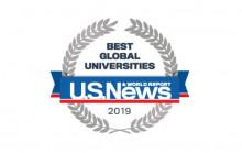 Global university ranking emblem.