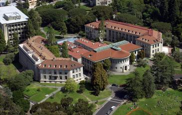 Aerial of Wellman Hall