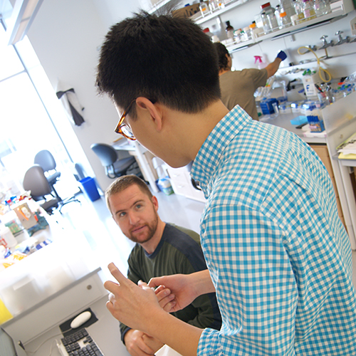Graduate Students: Sam Coradetti (Left) and Jason Liu (Right)